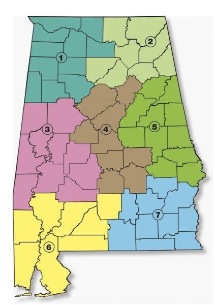 Alabama Extension Team Leader County Subsets