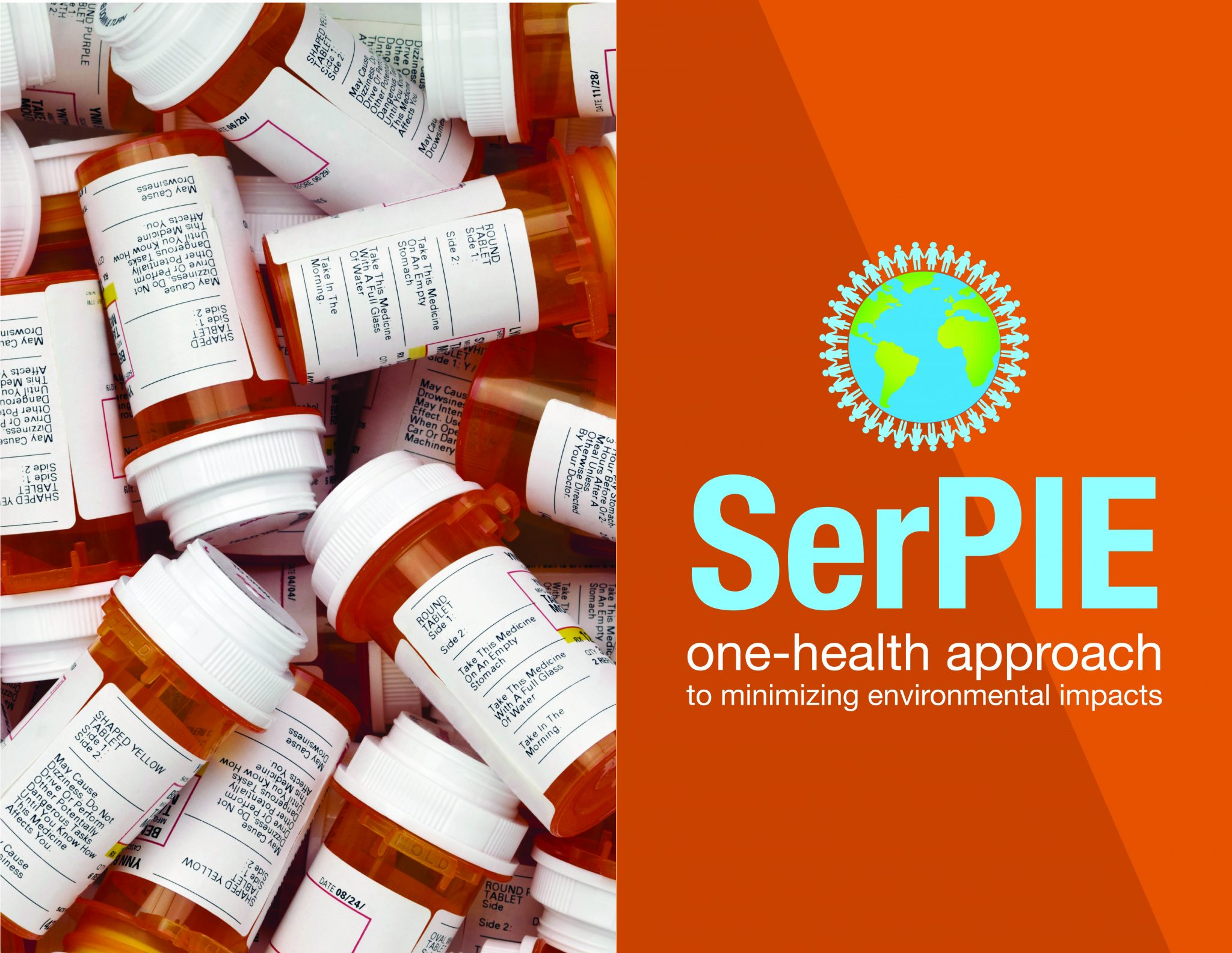 Prescription Medicine bottle with SerPIE Logo