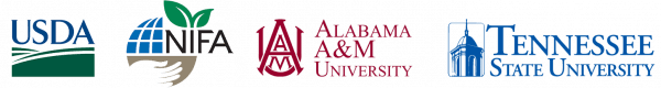 Partner logos: USDA, NIFA, Alabama A&M University, Tennessee State University
