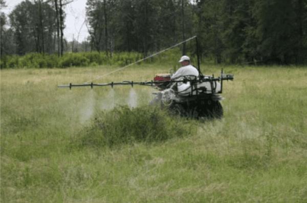 ATV side mounted boom sprayer
