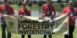 Alabama 4-H members winning the state forestry invitational.