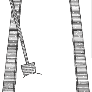 Illustrated diagram of a garden bed