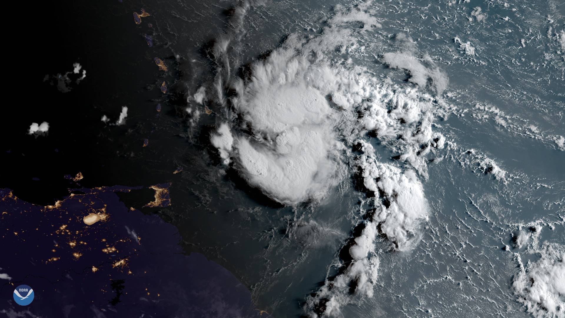 tropical storm Dorian image by NOAA