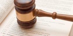 Copyright law concept: gavel over 17 U.S.C. 501 (copyright infringement)