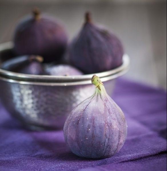 Dark colored figs