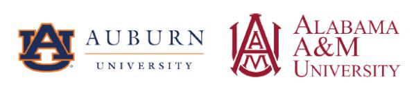 Auburn University and Alabama A&M University logos