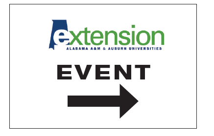 Event sign with logo