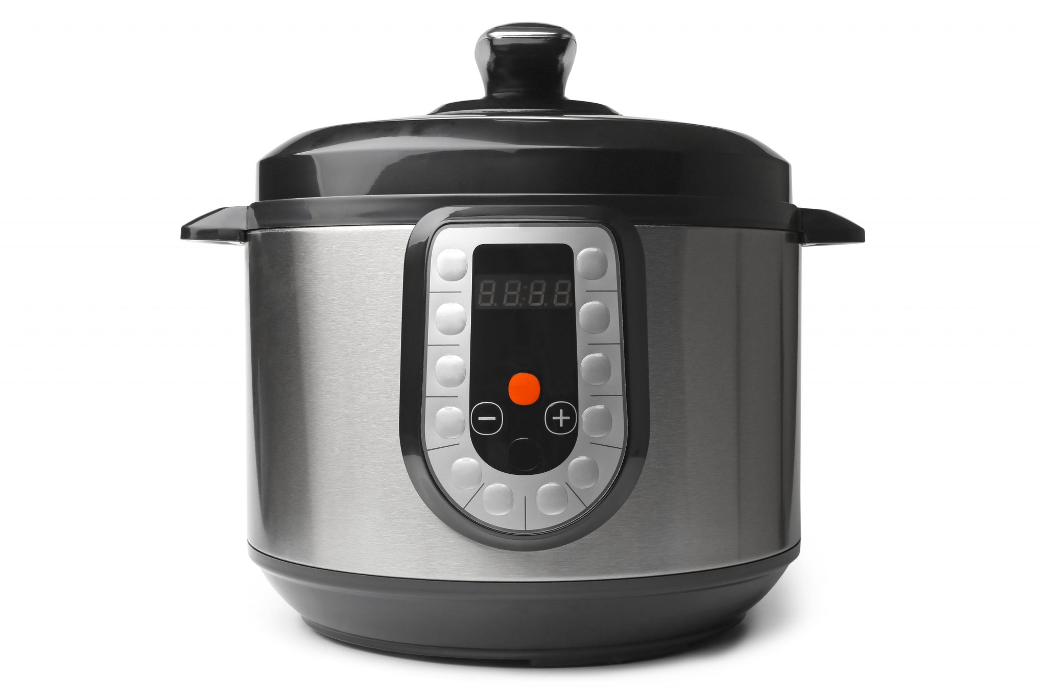 Pressure cooker. Pressure cooking saves time.