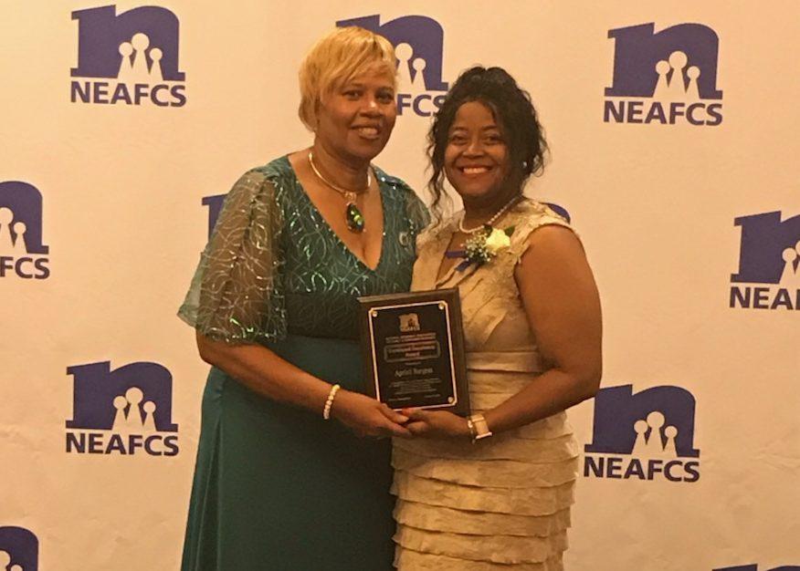 Karen Munden, NEAFCS President with Apriell Burgess, Urban Regional Agent