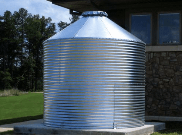 Cisterns have a greater water capacity than rain barrels