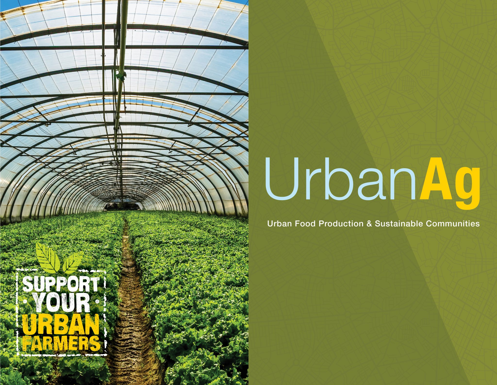 Hoop House with crops growing inside: Support your urban farmers. Urban Ag