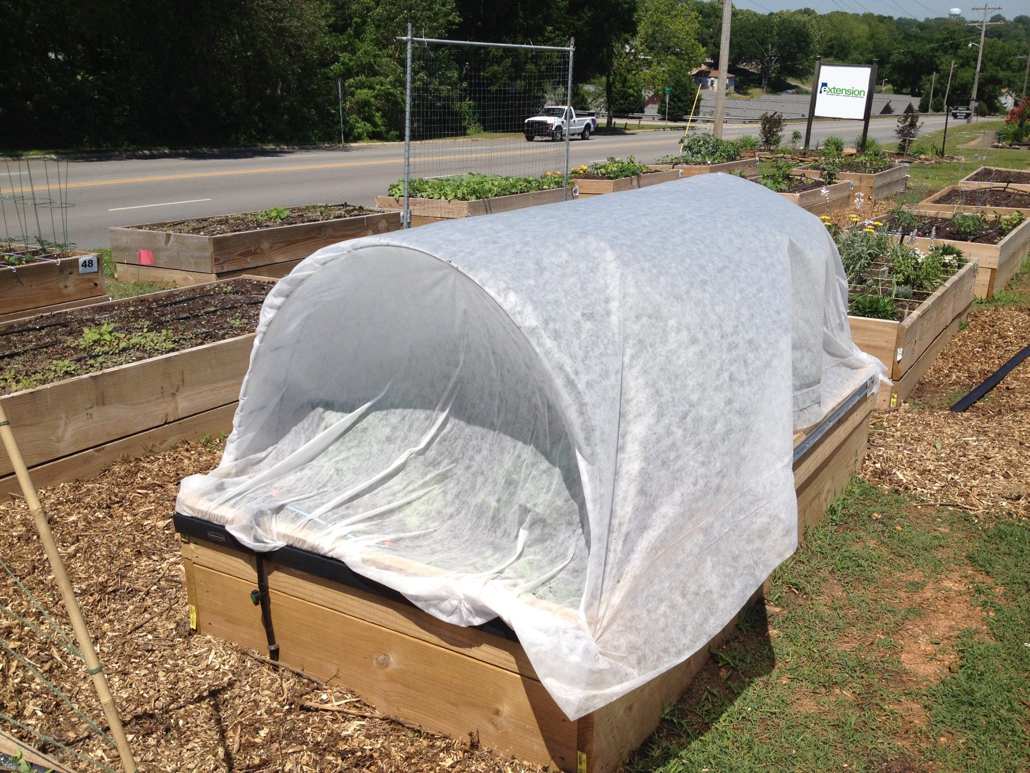 Vegetable garden insect row cover