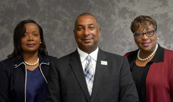 Dr. Kimberly Sinclair Holmes, Assistant Director; Dr. Allen Malone, 1890 Extension Administrator; Dr. Celvia Stovall, Associate Director