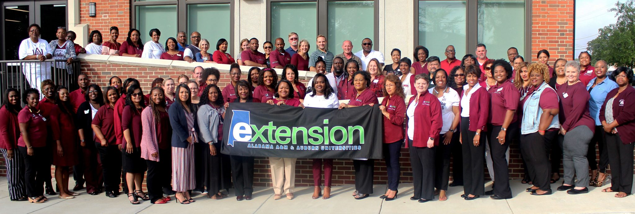 Group Staff photo of the Alabama Extension at AAMU team
