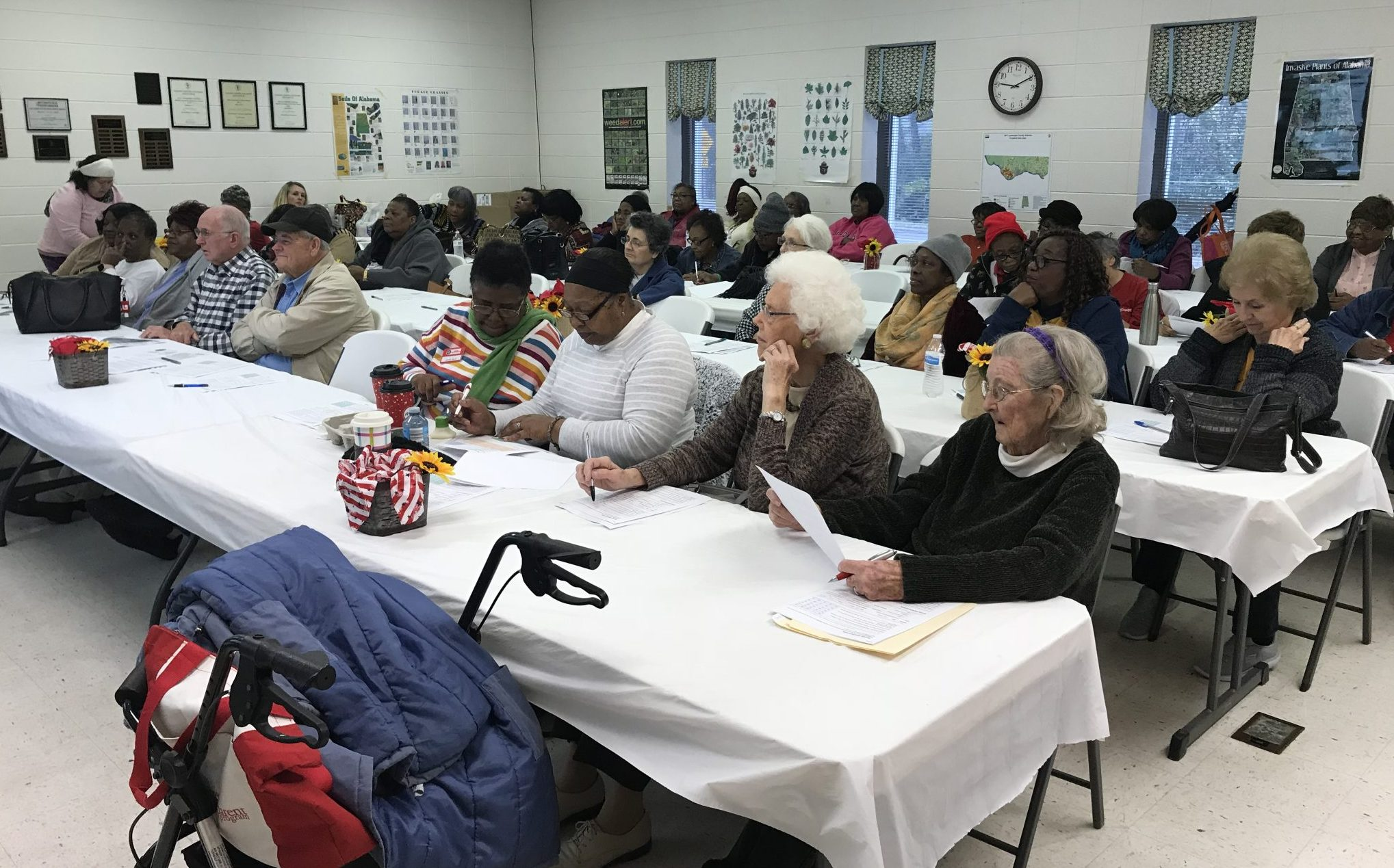 Seniors Can participants at Lawrence County Extension Office. Photos Credit: Darlene Minniefield