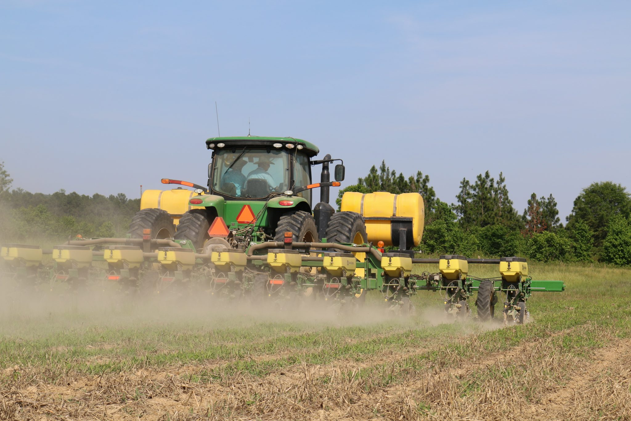 planting into reduced tillage