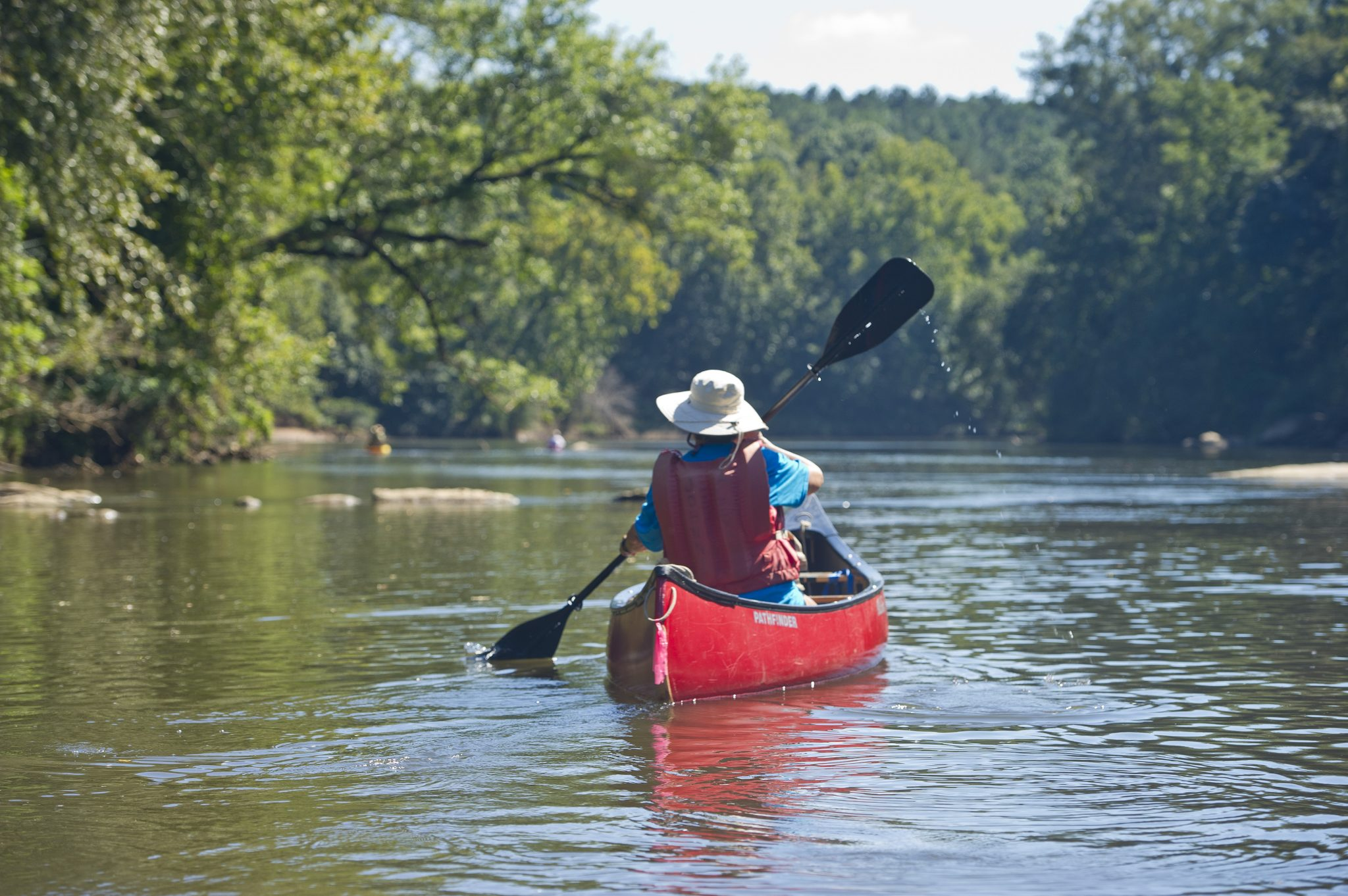 canoe trail paddling river
