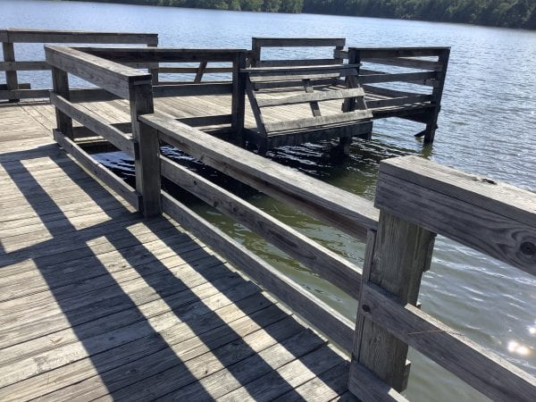 Figure 27. A low railing is convenient for seated anglers and children.