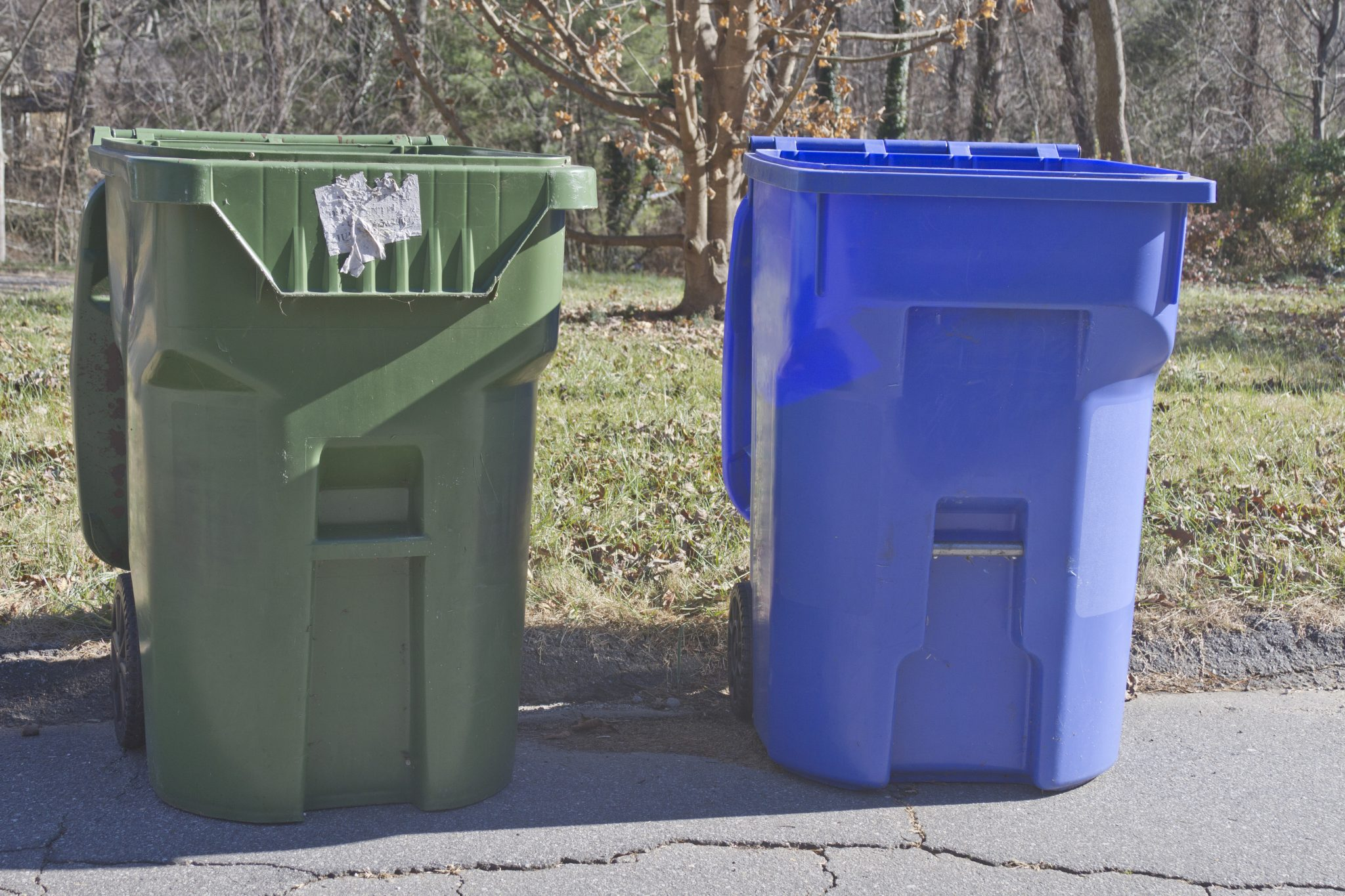 Home Trash and Recycling Bins