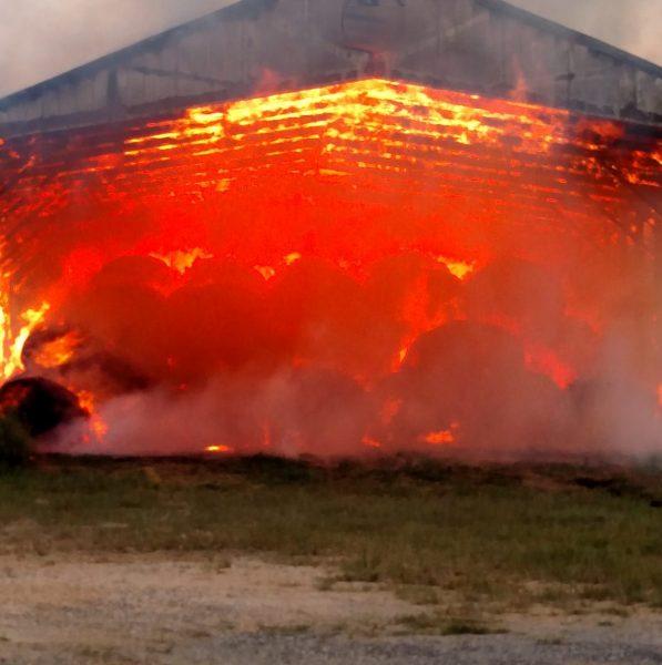 Hay Barn Fire