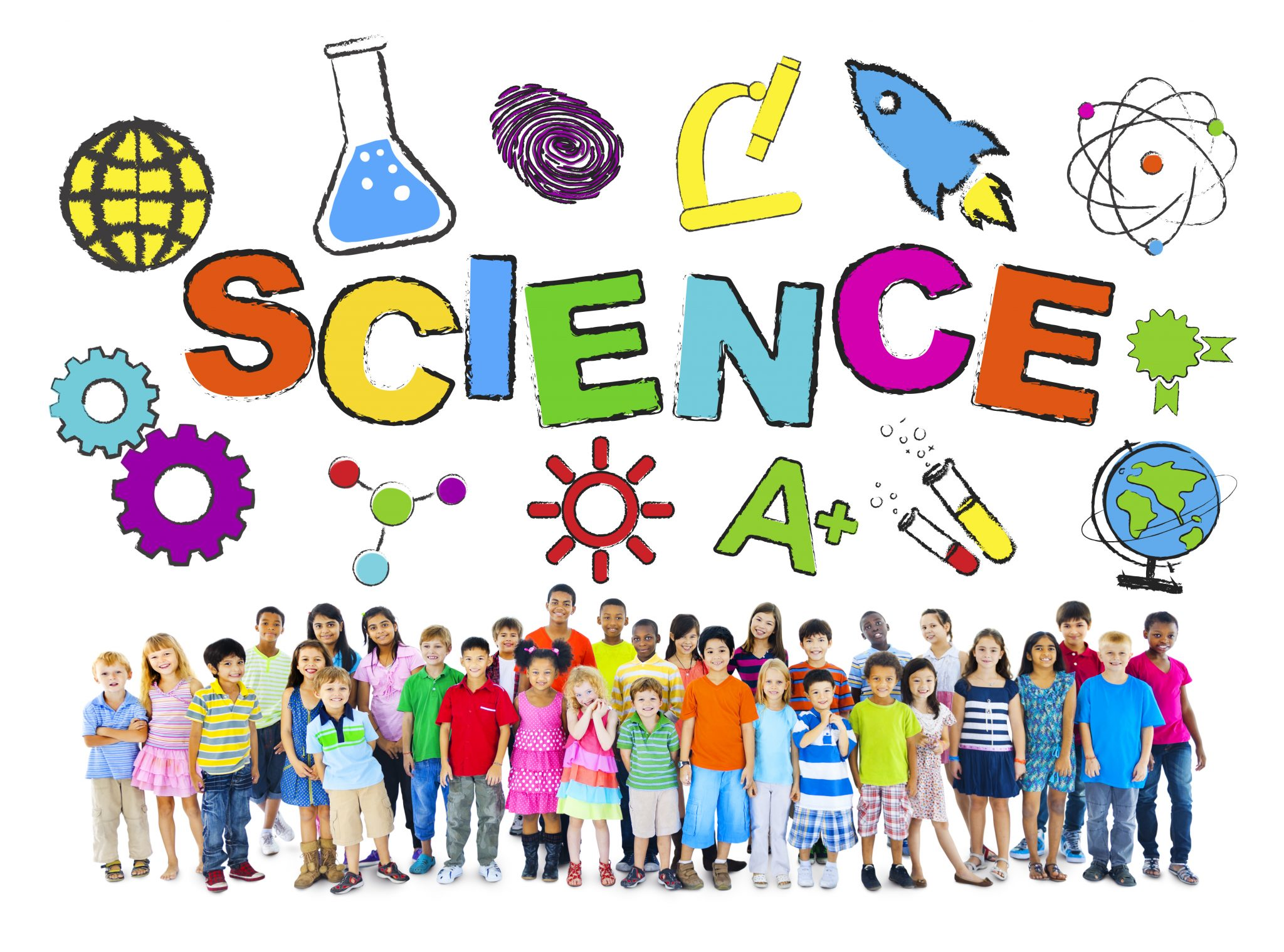 Group of Children with Science Concept