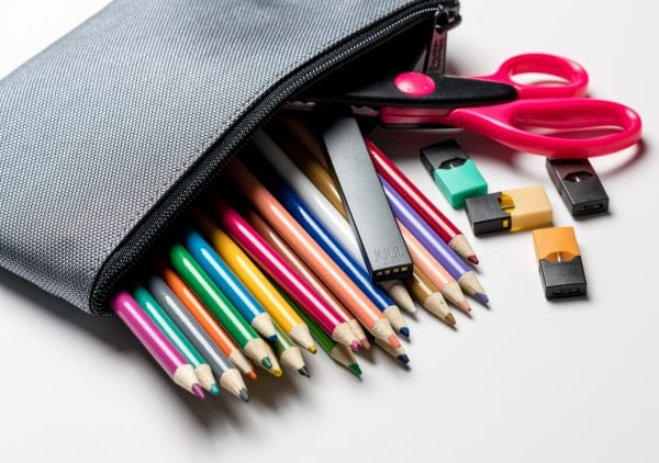A bag of colored pencils.