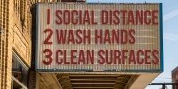 social distance bill board