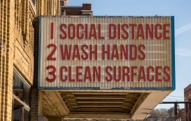 social distance bill board