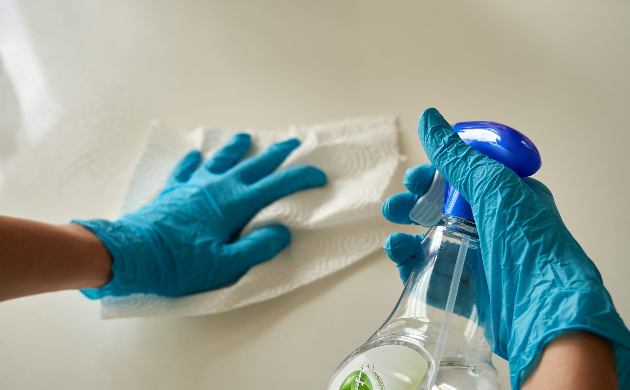 Always follow proper safety guidelines when using cleaners and disinfectants.