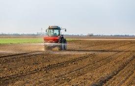 applying fertilizer