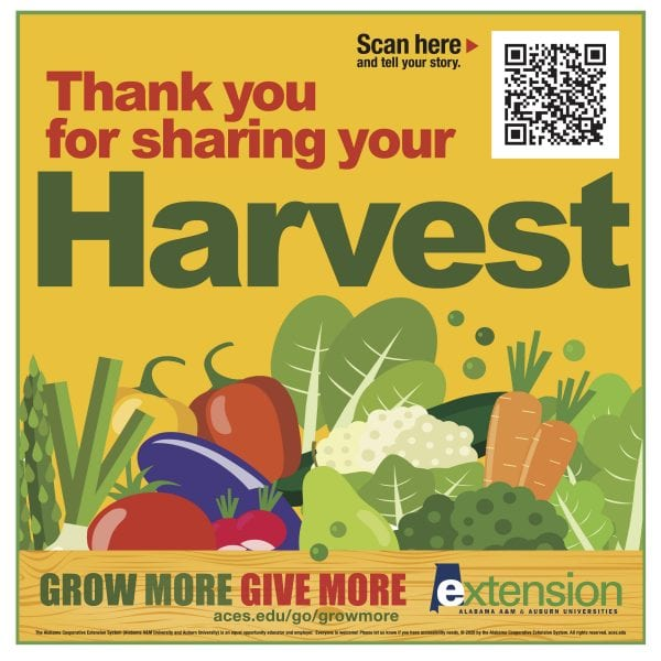 Grow More, Give More Thank you for sharing your harvest.