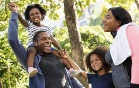 African family bonding in the park