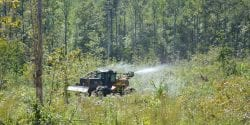 Chemical site-prep application by skidder.