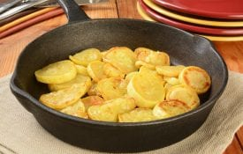 summer squash in the pan