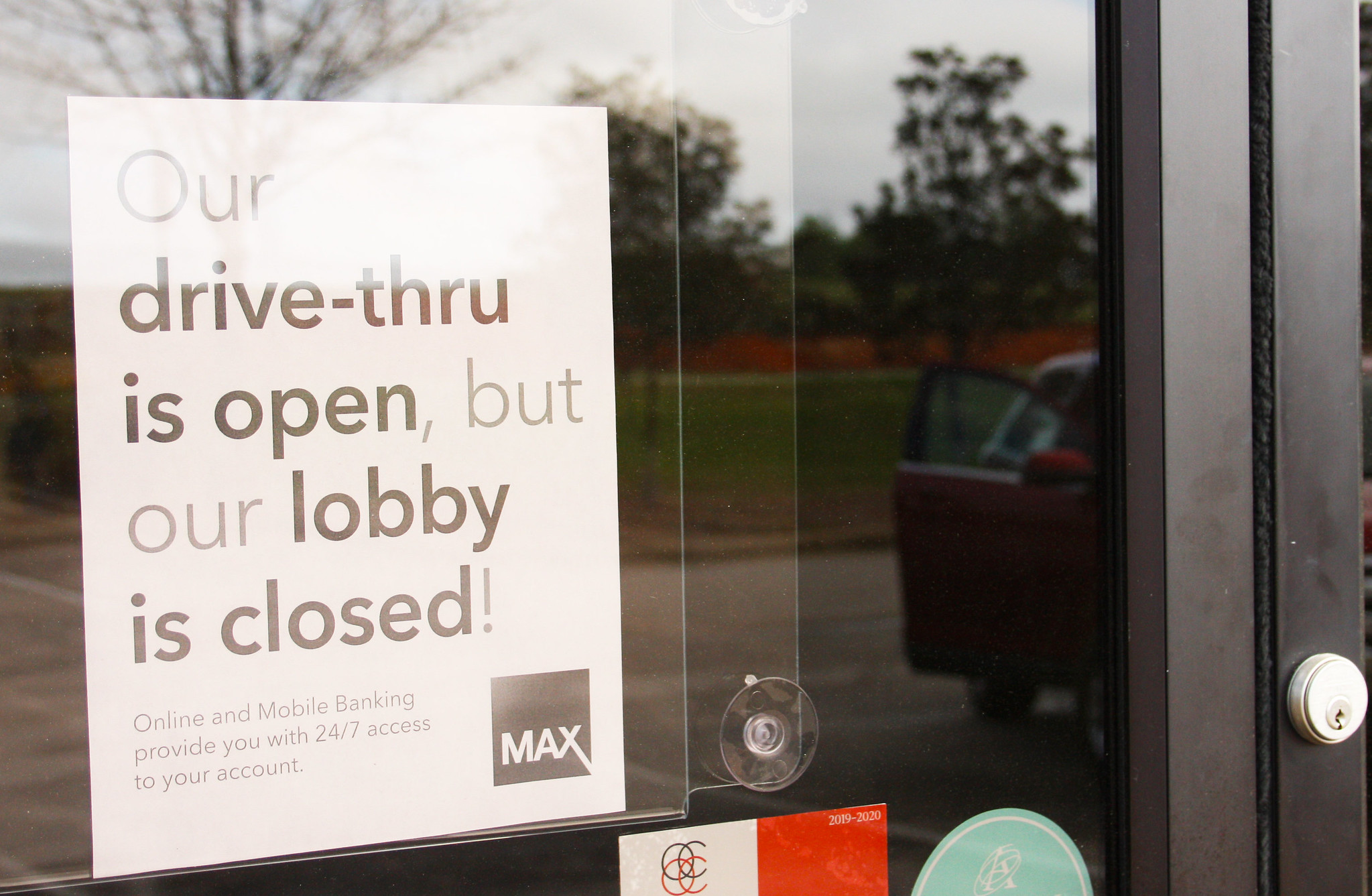 Closed sign during COVID-19