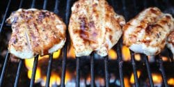 Alabama 4-H barbecue grilling tips; chicken on grill