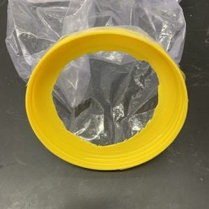 Figure 3. Hole cut in the lid of a large plastic container