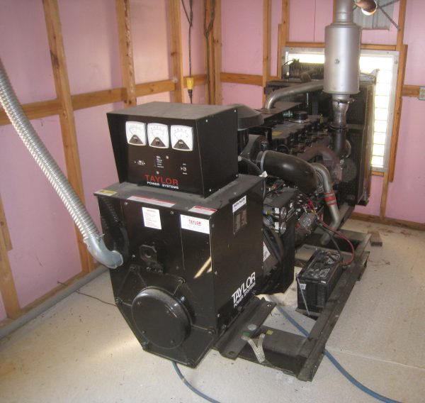 Figure 2. Typical poultry farm 100 to 175 hp backup generator.