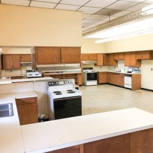 Home Economics building after cleaning