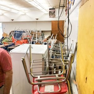 Mess in Home Economics building