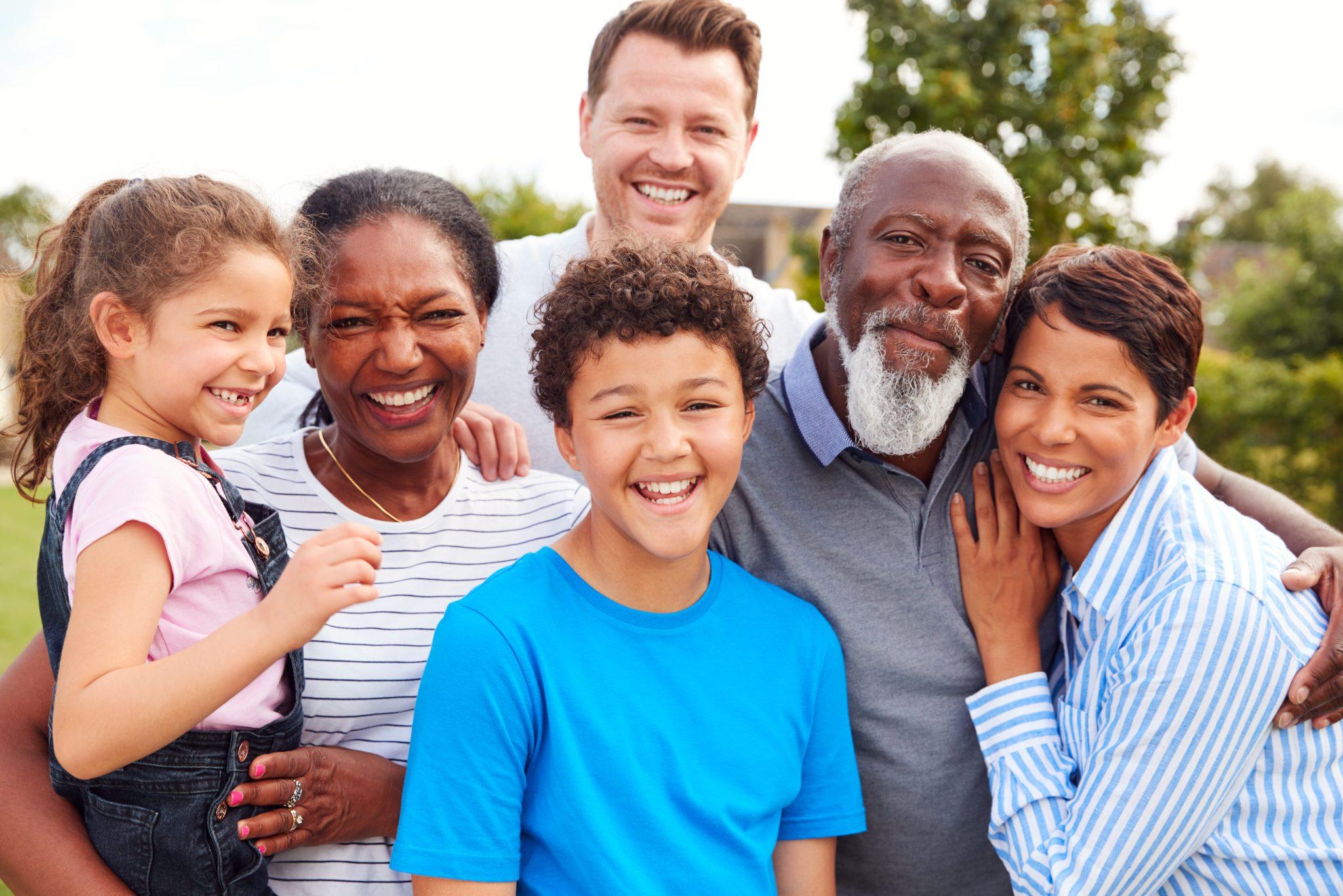 A biracial family