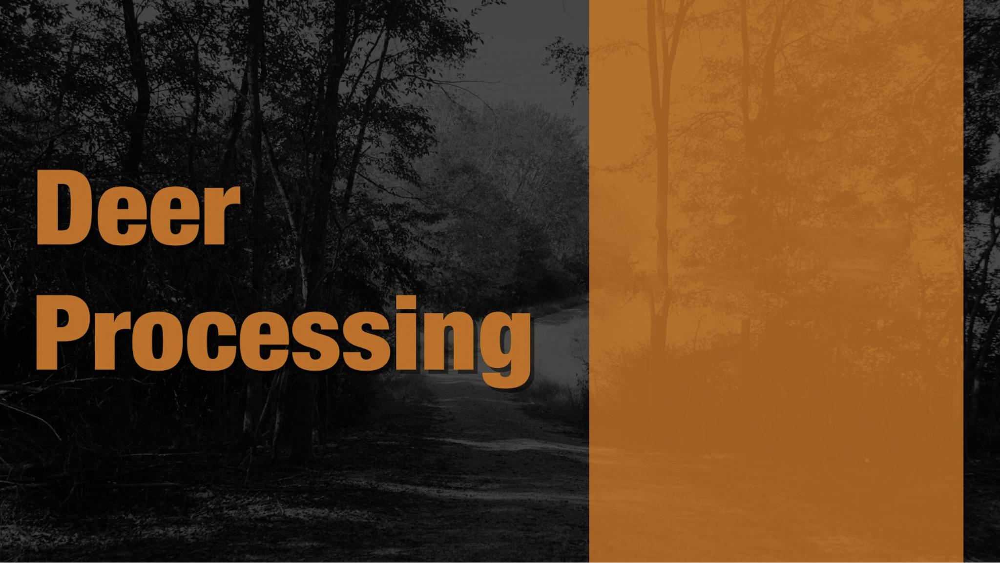Deer Processing Title Card
