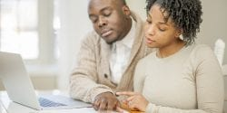 Husband and Wife Doing Financial Planning