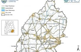 Map of the Choctawhatchee-Pea Watersheds