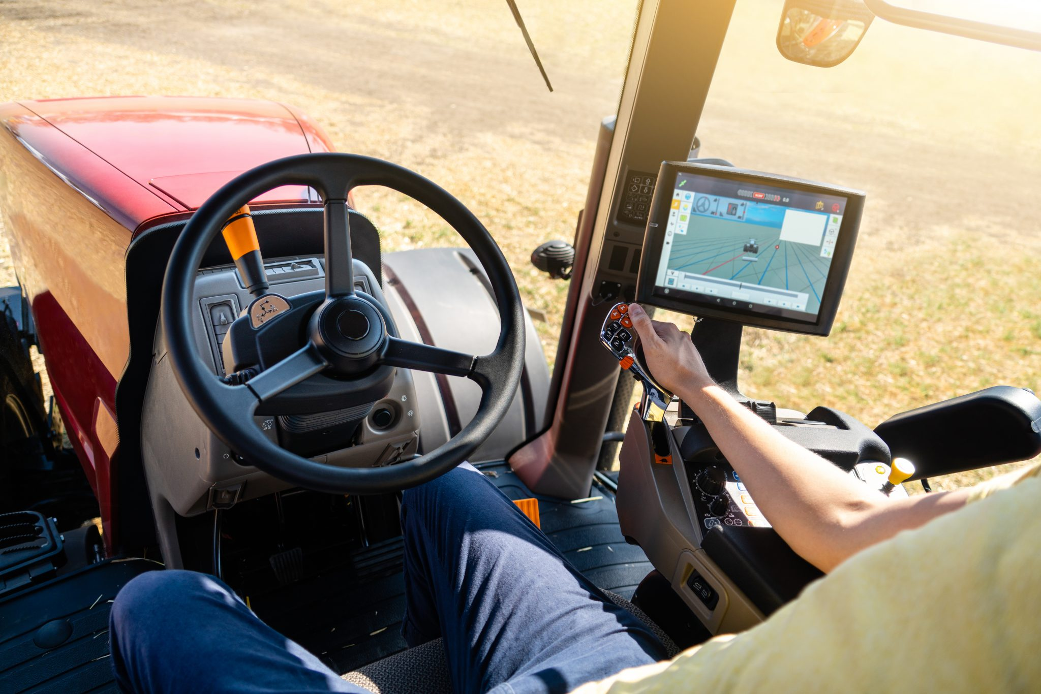 Tractor with GPS System