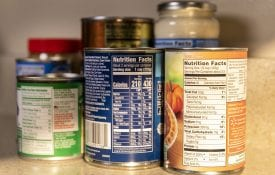 food nutrition labels