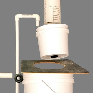 Photo 2. Components of the filter bucket system. Your components may vary slightly from this system.