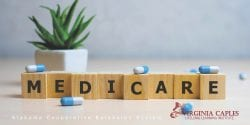 Blocks on a table spell out medicare