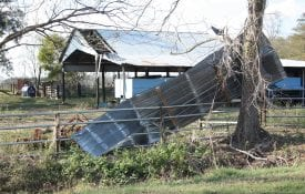 Hurricane Michael Damage to Barn