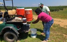 mobile on-farm handwashing station; produce safety rule